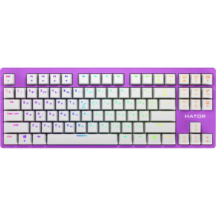 Клавіатура HATOR Rockfall EVO TKL Lilac (HTK-633)