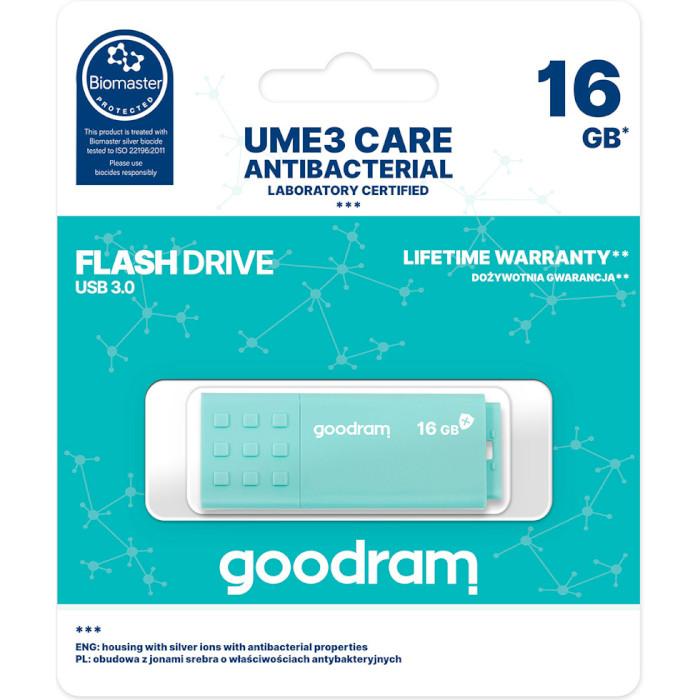 Флешка GOODRAM UME3 16GB Green (UME3-0160CRR11)