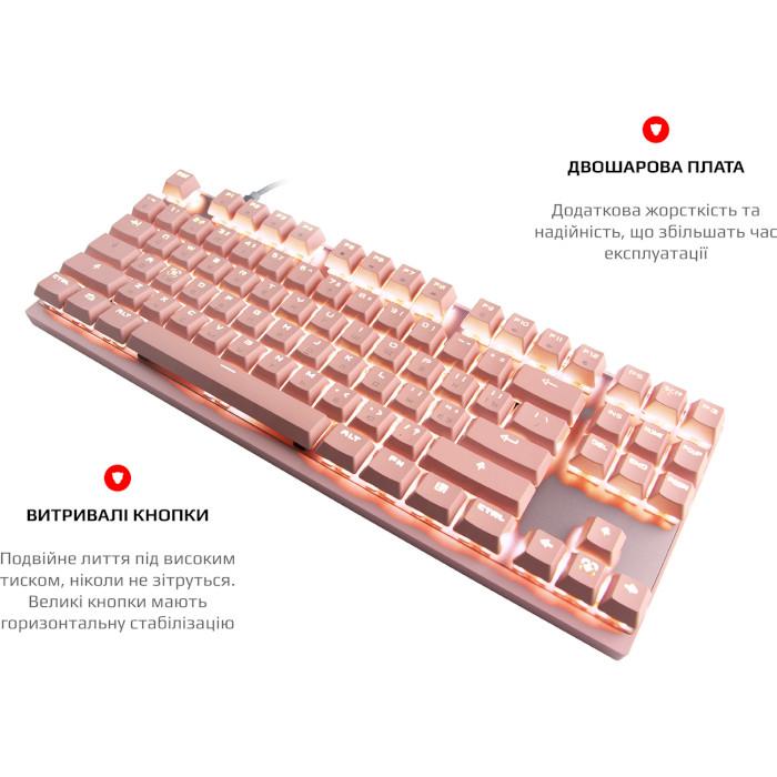Клавіатура бездротова MOTOSPEED GK82 Blue Switch Pink (MTGK82PMB)
