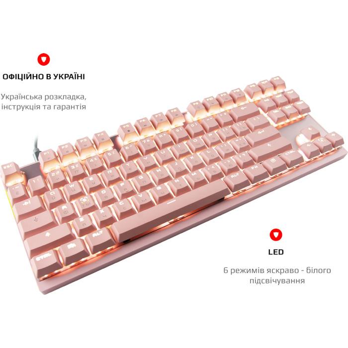 Клавіатура бездротова MOTOSPEED GK82 Red Switch Pink (MTGK82PMR)