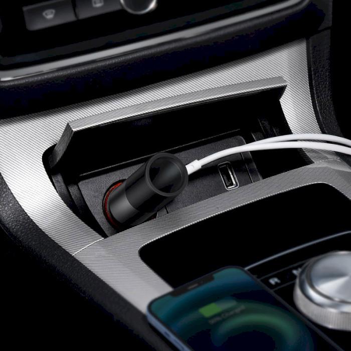 Автомобільний зарядний пристрій BASEUS Share Together Fast Charge Car Charger Cigarette Lighter Expansion Port (CCBT-C0G)