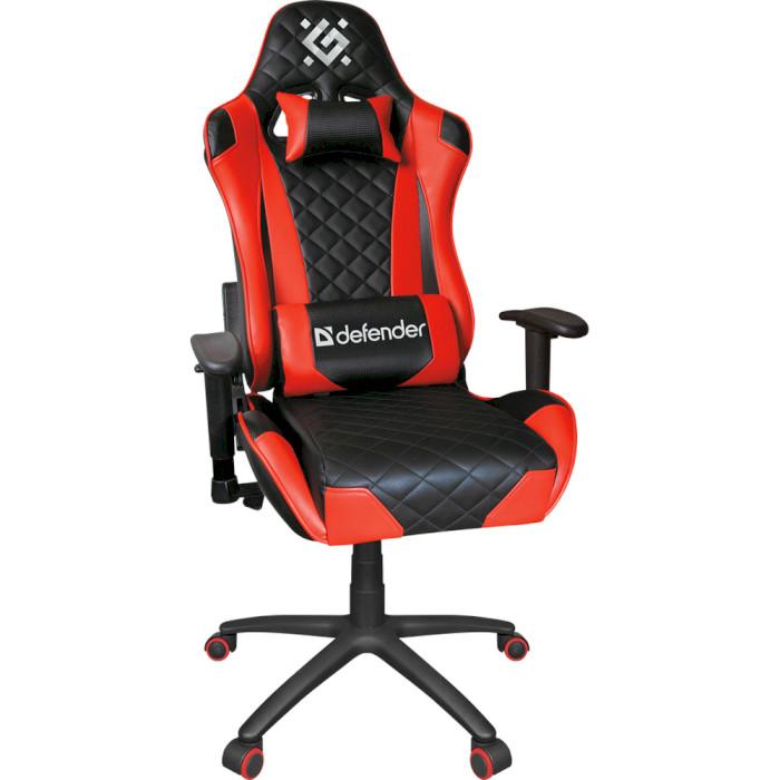 Крісло геймерське DEFENDER Dominator Black/Red (64362)